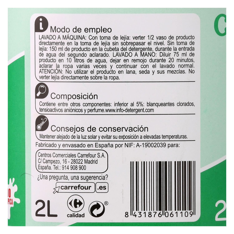Lejía densoactiva perfume menta Carrefour 2 l. - 2