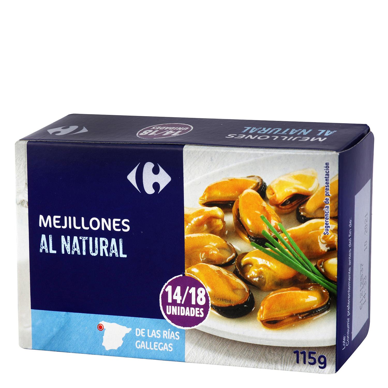 Mejillones al natural 14/18 Carrefour 68 g.