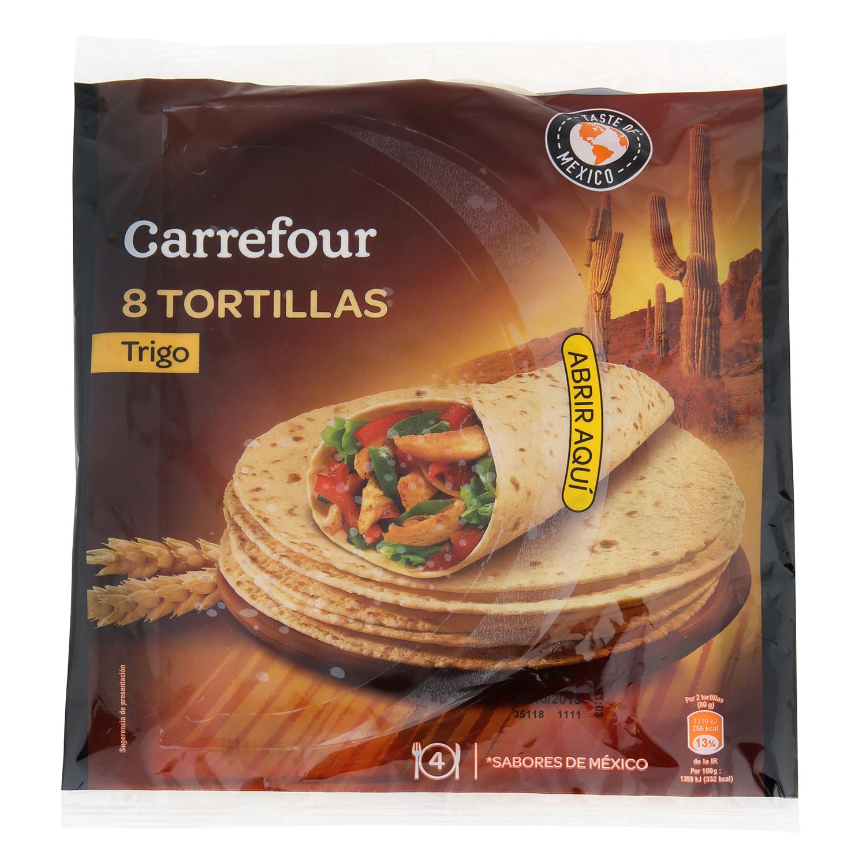 Tortillas de trigo natural 'Tex Mex' Carrefour 340 g.