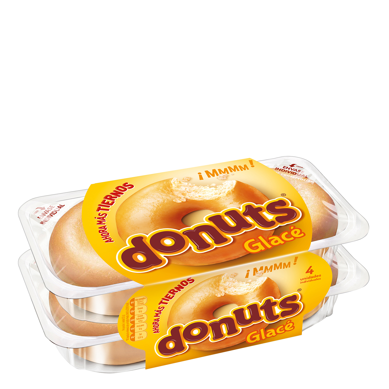Berlina Glace Donuts pack de 4 unidades de 52 g.