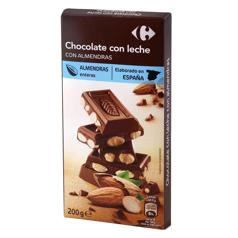 Chocolate extrafino con leche y almendras enteras