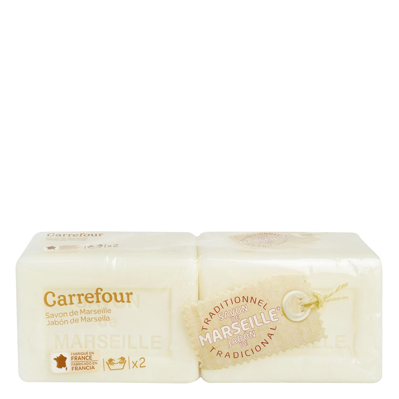 Jabón de Marsella Carrefour 2 ud.