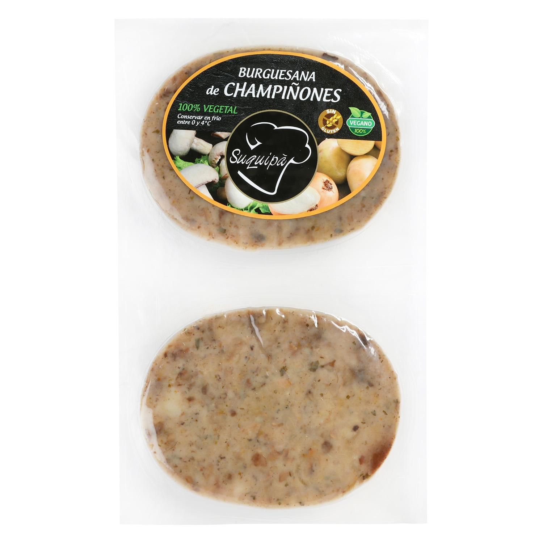 Hamburguesa de Champiñones 100% Vegatal Burguesana Suquipá (2x90g) 180 g - 2