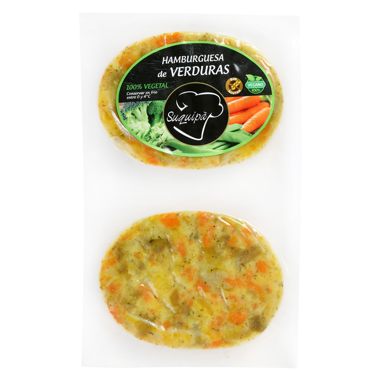 Hamburguesa de Verduras 100% Vegetal Burguesana Suquipá (2x90g) 180 g - 2