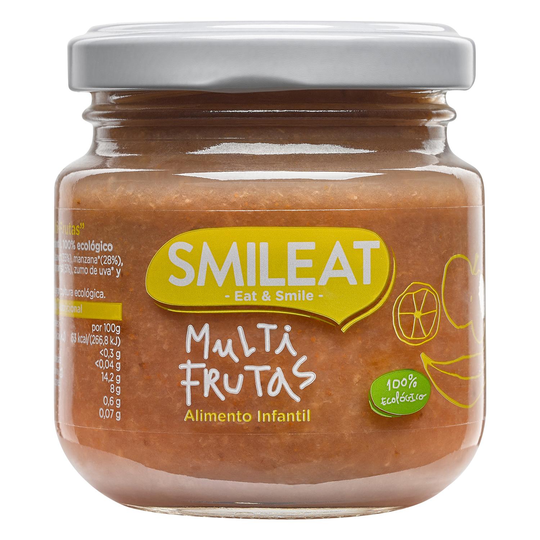 Tarrito multifrutas ecológico Smileat 130 g.