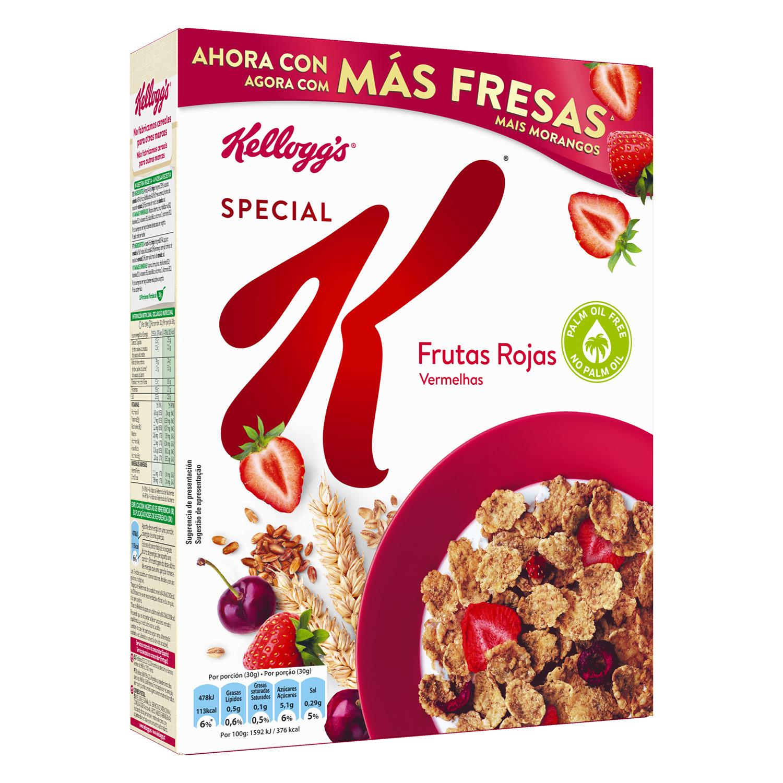 Frutas Rojas: Copos tostados de arroz y trigo con frutas rojas liofilizadas