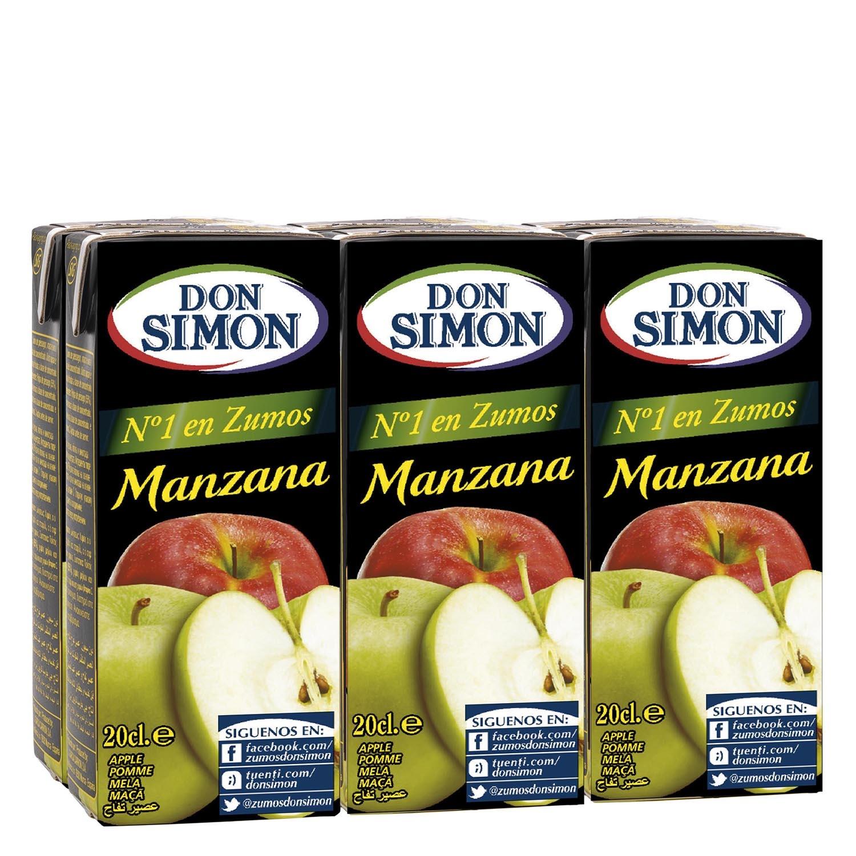 Zumo de manzana Don Simón pack de 6 briks de 20 cl.