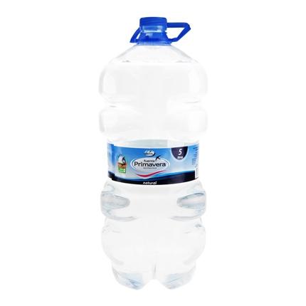 Agua mineral Fuente Primavera natural garrafa 5 l.