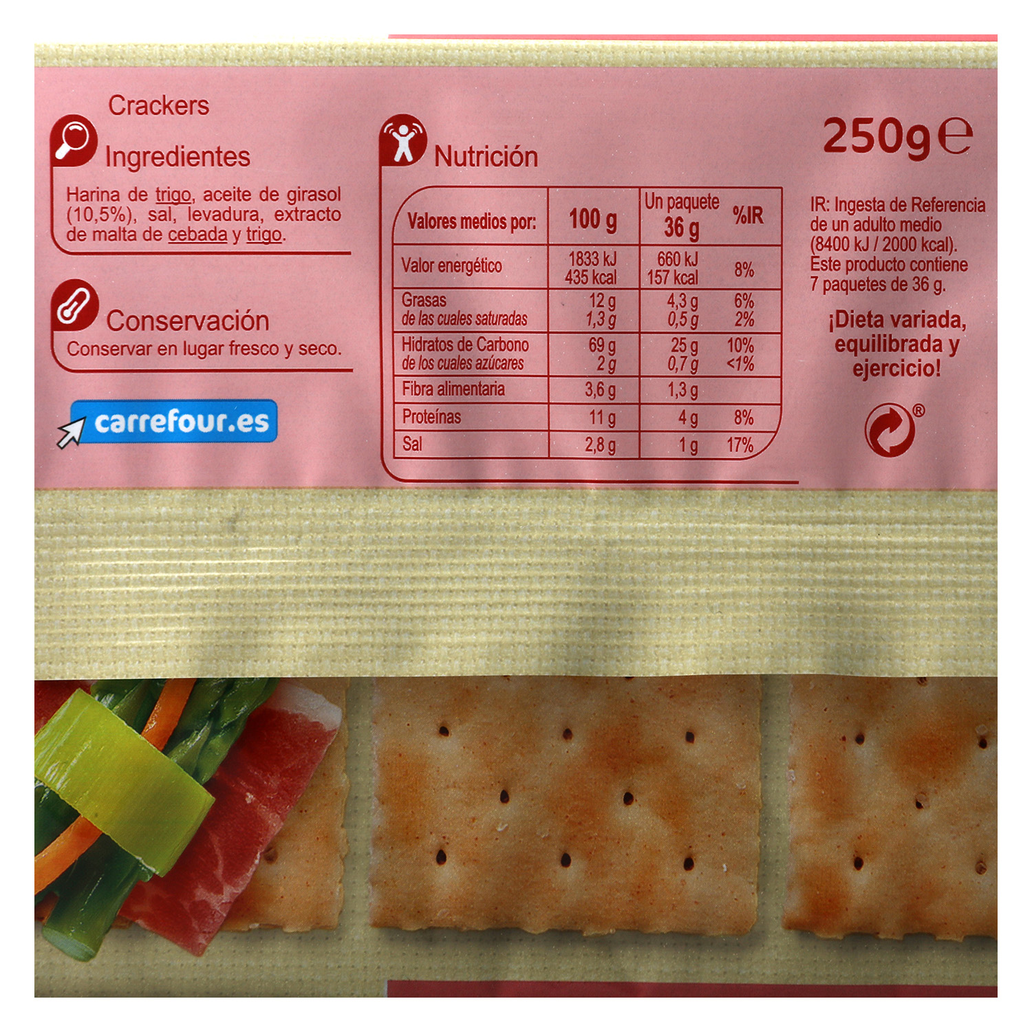 Crackers Carrefour 250 g. -