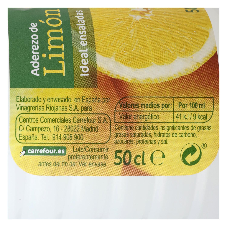 Aderezo de limón Carrefour 500 ml. -
