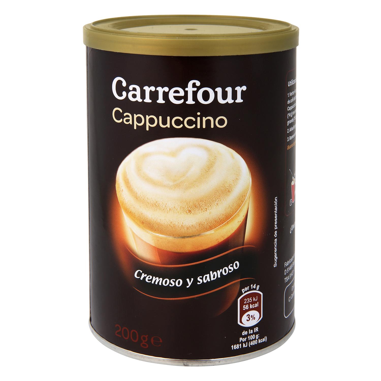 Café soluble natural cappuccino Carrefour 200 g.