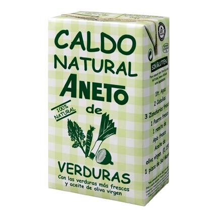 Caldo de verduras natural