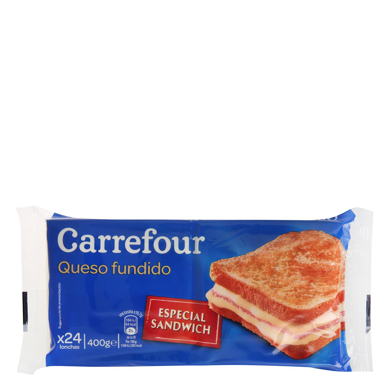 Queso en lonchas Carrefour 400 g.