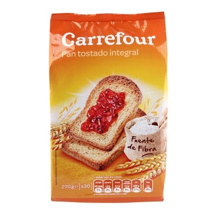 Pan tostado integral Carrefour 270 g.