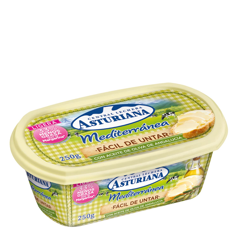 Mantequilla con aceite de oliva Central Lechera Asturiana 250 g.