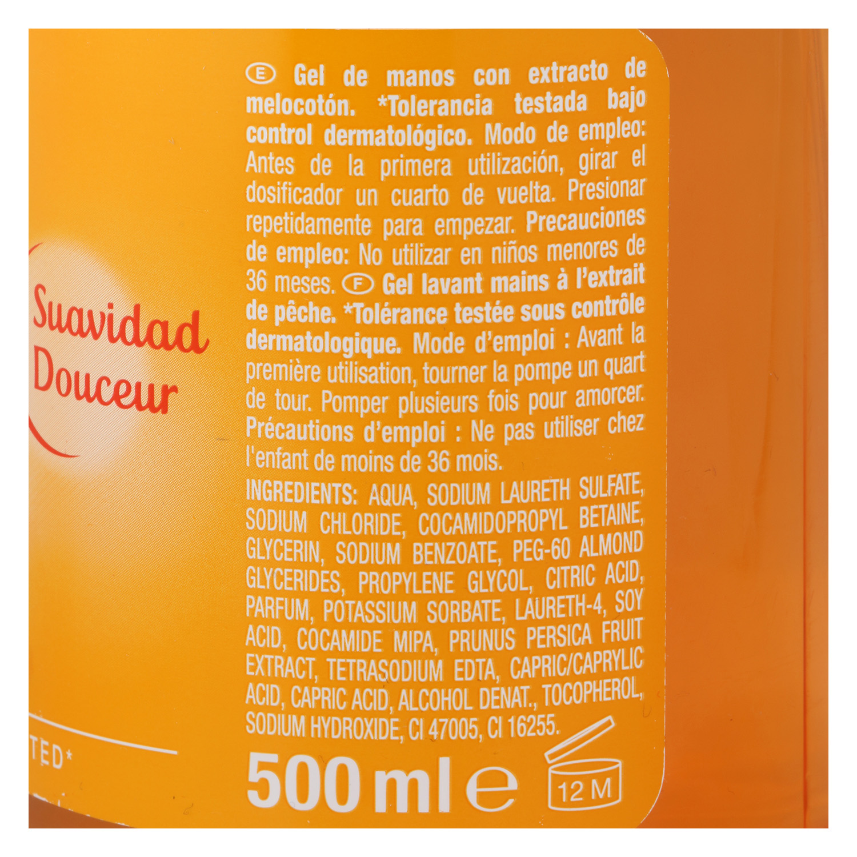 Jabón líquido de manos perfume melocotón Carrefour 500 ml. - 3