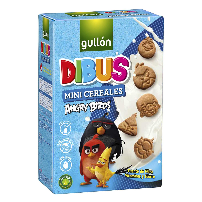 Galletas Dibus Angry Birds Gullón sin lactosa 250 g.