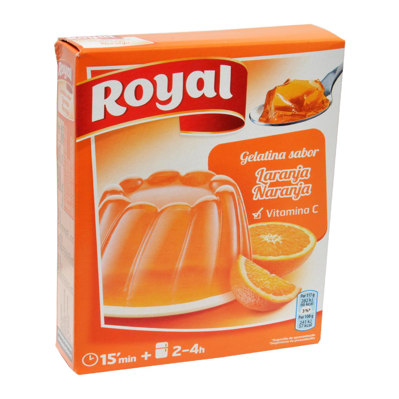 Preparado para gelatina sabor naranja Royal 170 g.