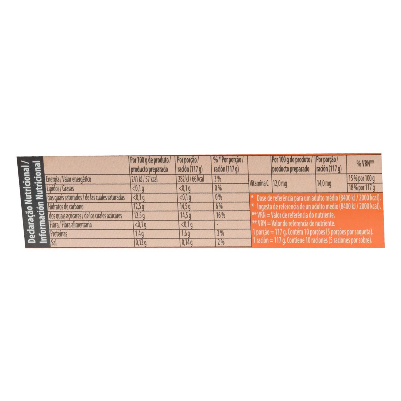 Preparado para gelatina sabor naranja Royal 170 g. - 2