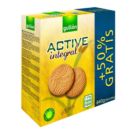 Galletas integrales Active Gullón 560 g.