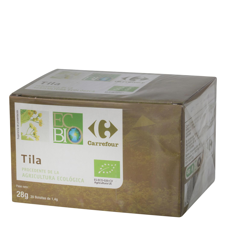 Tila en bolsitas ecológica Carrefour Bio 20 ud.