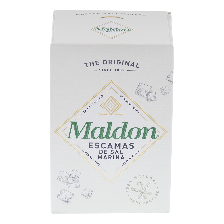 Sal marina en escamas Maldon 250 g.