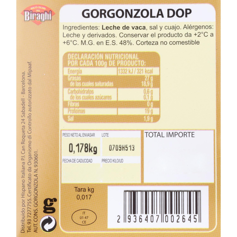 Queso azul gorgonzola D.O.P. Hispano Italiana cuña 150 g - 3