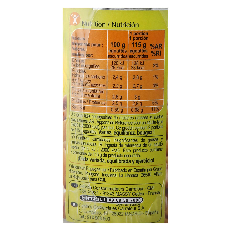 Champiñones laminados Carrefour 230 g. -