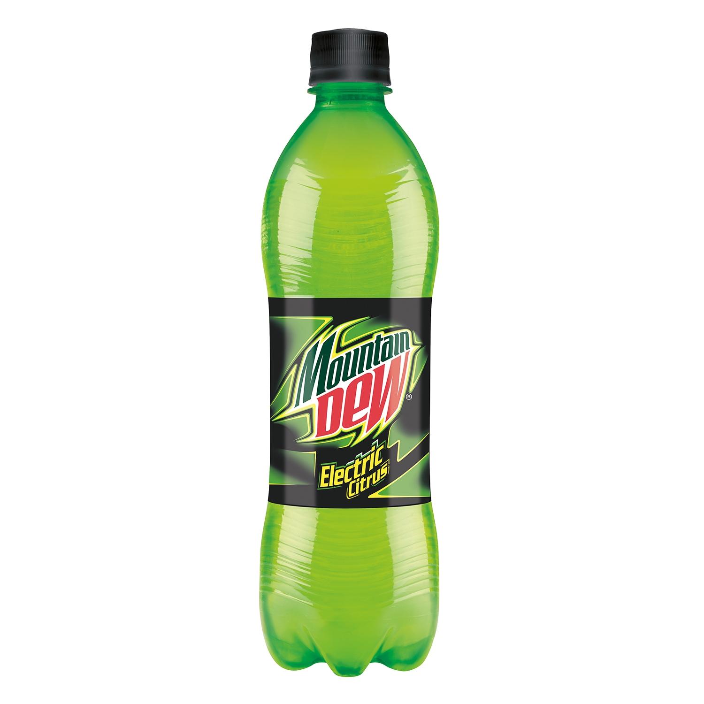 Refresco de lima-limón Mountain Dew con gas botella 50 cl.