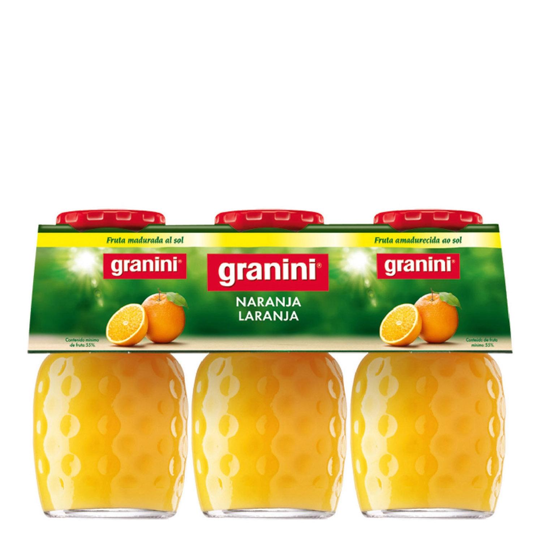 Néctar de naranja Graninipack pack de 3 botellas de 20 cl.