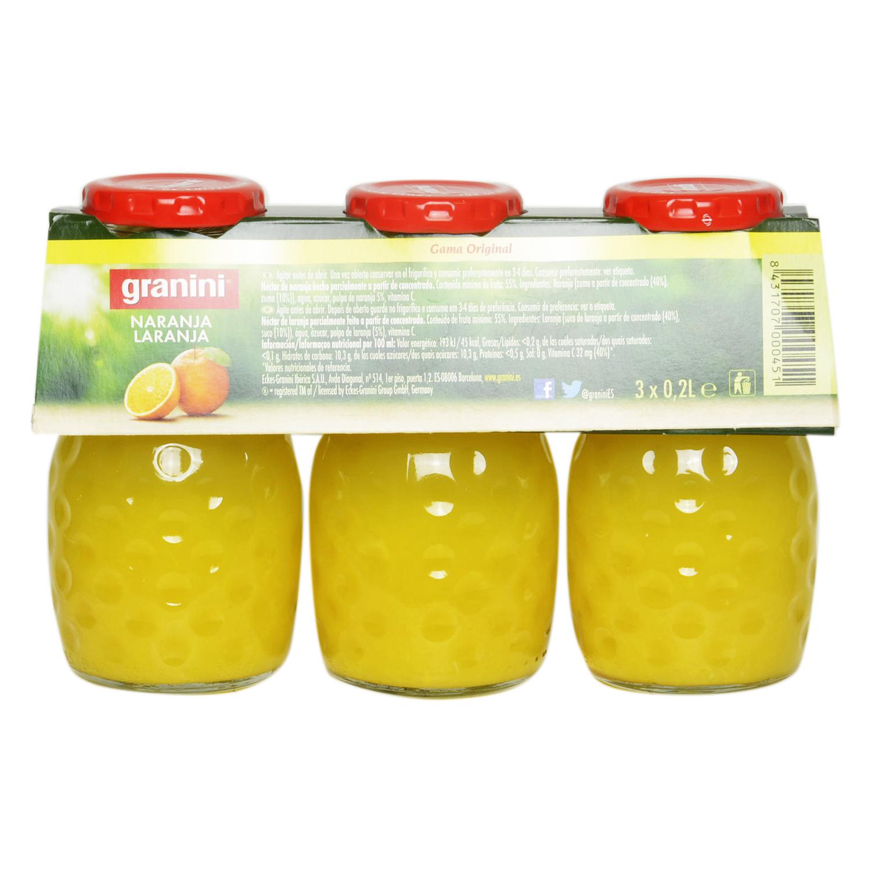 Néctar de naranja Graninipack pack de 3 botellas de 20 cl. -