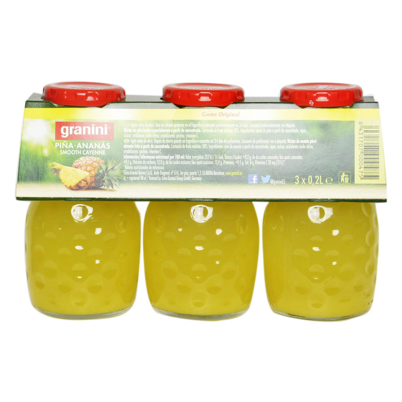 Zumo de piña Granini pack de 3 botellas de 20 cl. -