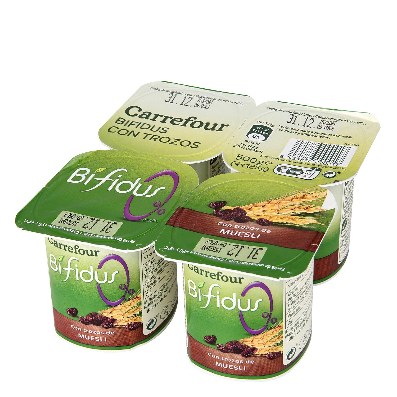 Yogur Bífidus 0% con Muesli y cereales