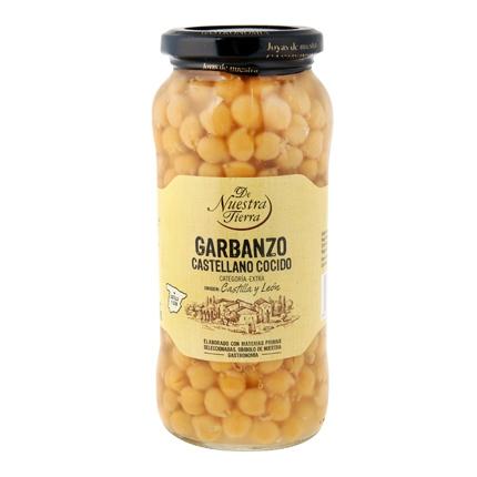Garbanzo castellano cocido De Nuestra Tierra 570 g.