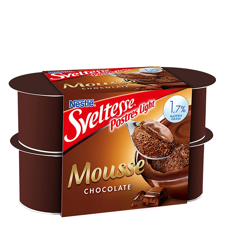 Mousse de chocolate Nestlé - Sveltesse pack de 4 unidades de 64 ml.