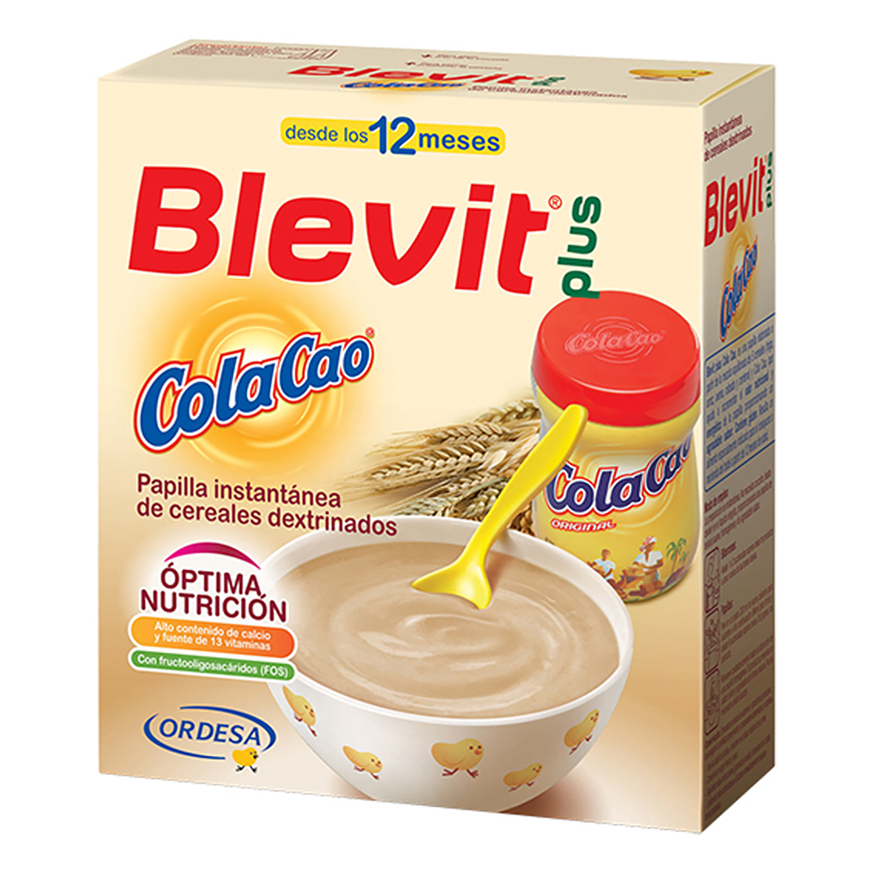 Papilla de cereales y ColaCao Blevit plus 600 g.