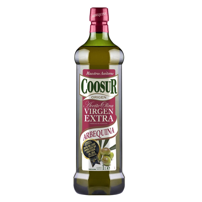 Aceite de oliva virgen extra arbequina Coosur 1 l.