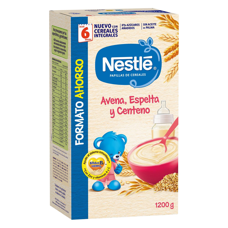 Papilla de avena, espelta y centeno Nestlé 1200 g.