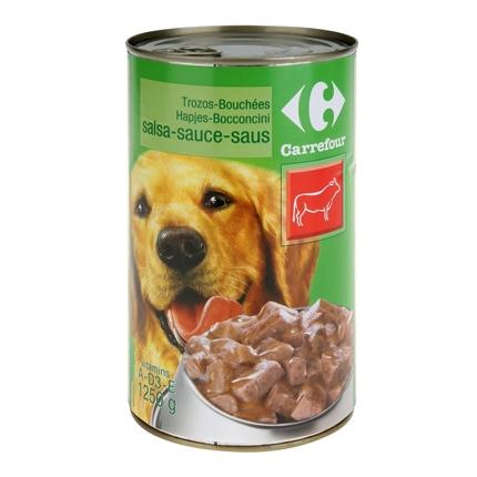 Carrefour Comida Humeda para Perro Adulto de Buey 1250g
