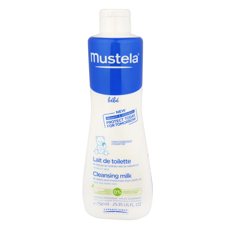 Loción hidratante limpiadora desde el nacimiento Mustela 750 ml.