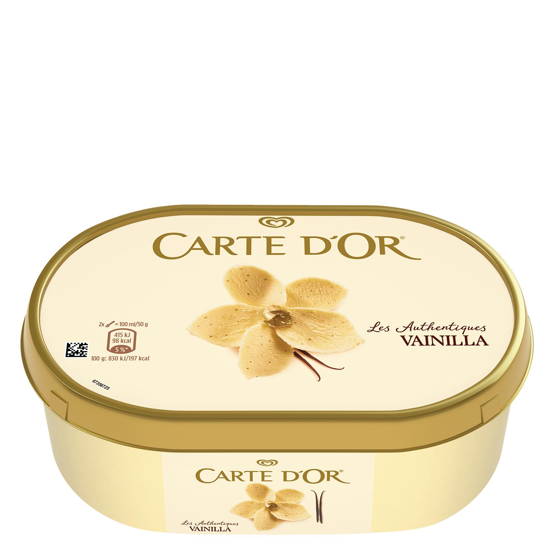 Helado de vainilla Carte D'or 1000 ml.