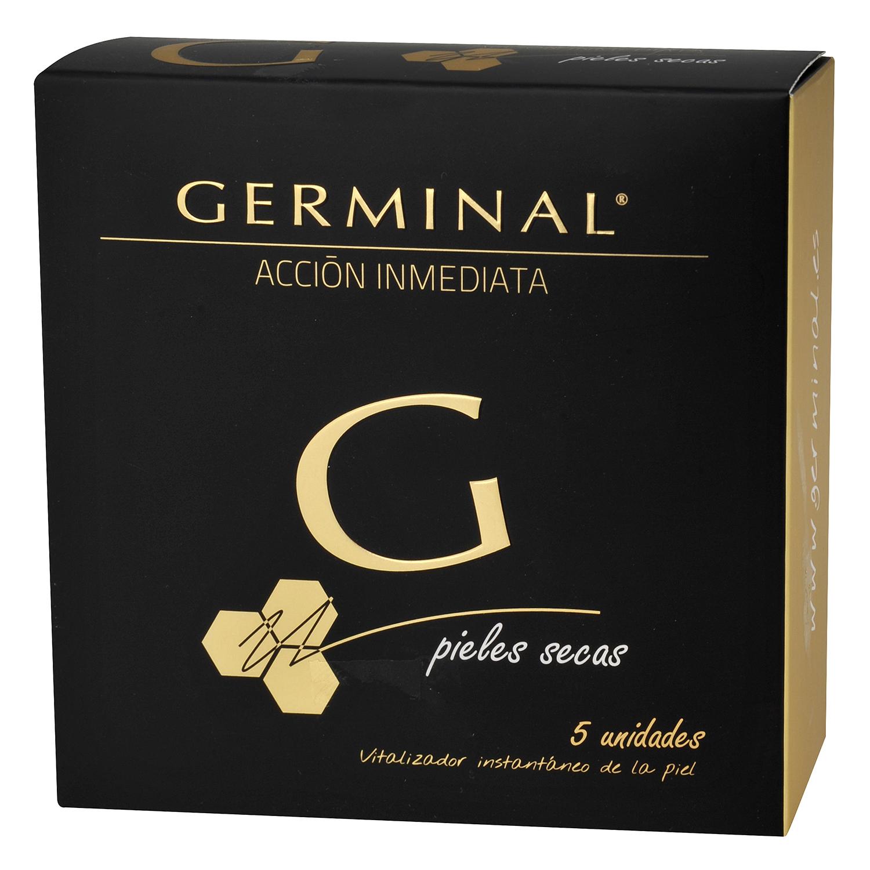 Ampollas acción inmediata pieles secas Germinal 5 ud.