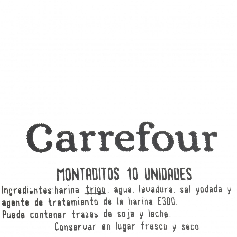Pan de montaditos Carrefour 10 unidades de 30 g - 2