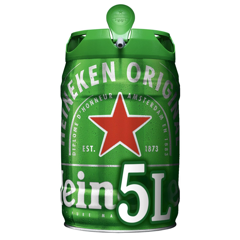 Cerveza Heineken Lager barril 5 l.