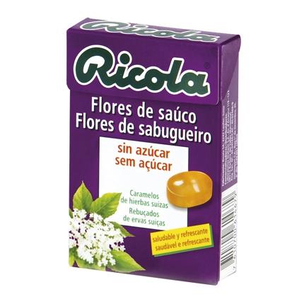 Caramelo Flores de saúco sin azúcares Ricola 50 g.