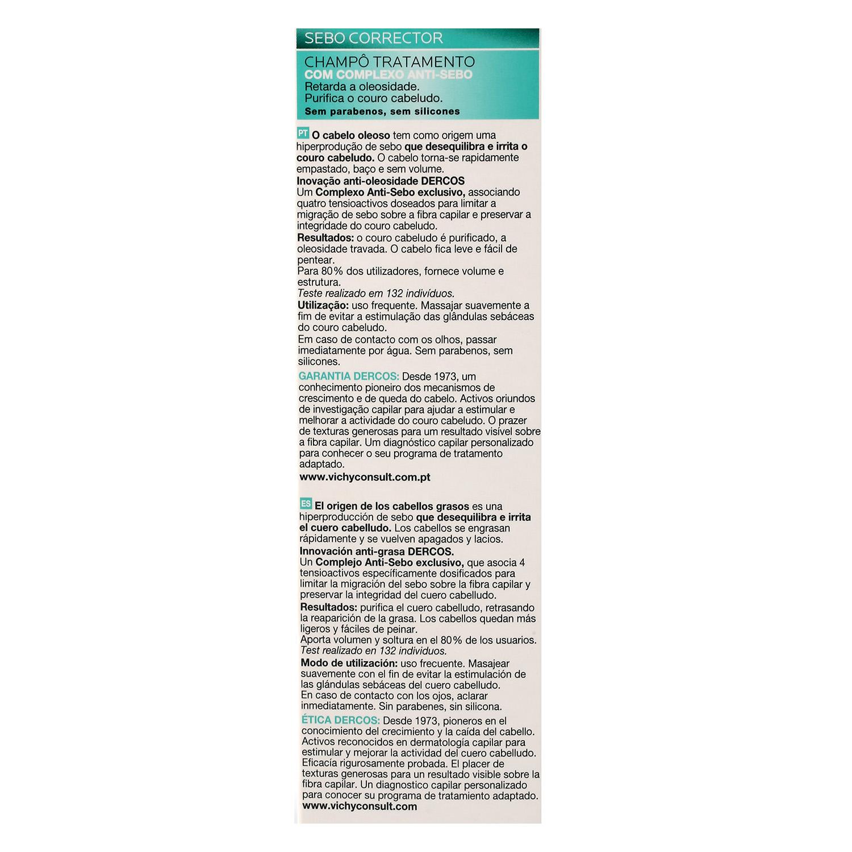 Champú Dercos tratamiento con complejo Anti-Sebo -