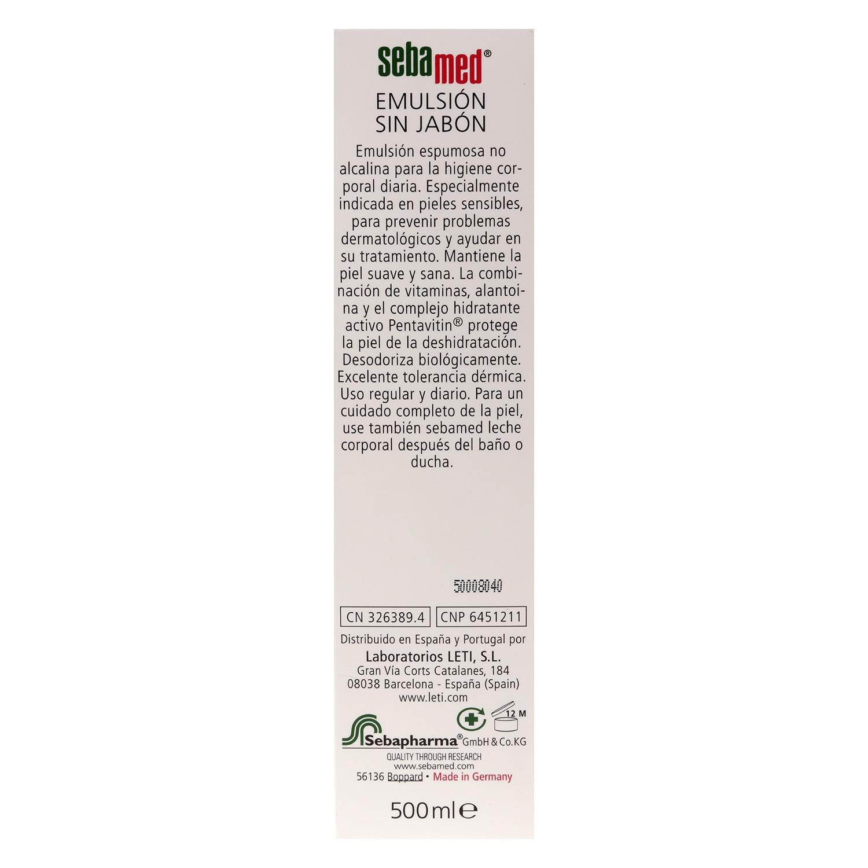 Emulsión para baño sin jabón piel sensible avena - 2