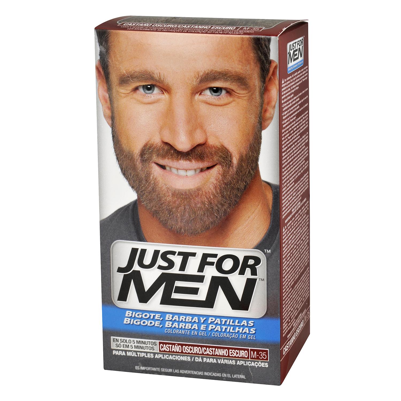 Colorante en gel castaño oscuro para barba, bigote y patillas