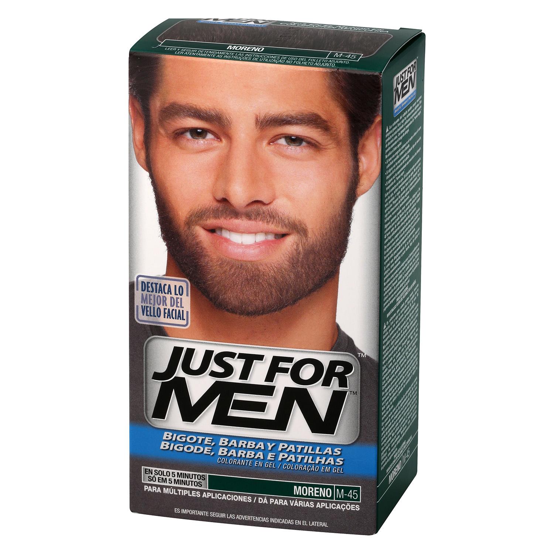 Colorante en gel moreno para barba, bigote y patillas