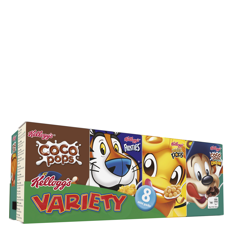 Cereales variados Kellogg's pack de 8 unidades de 25 g.